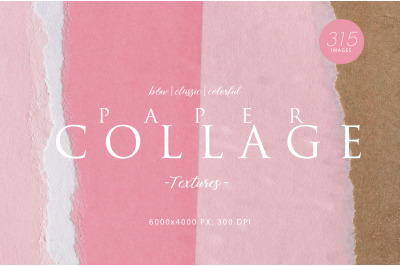 315 Paper Collage Textures Bundle