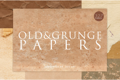 327 Old & Grunge Paper Textures Bundle