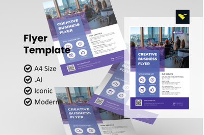 Business simple flyer template
