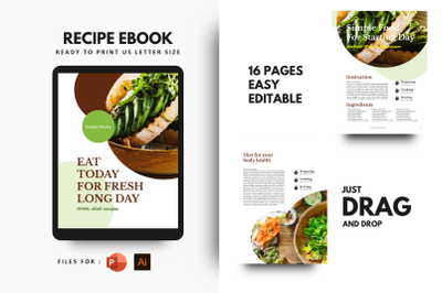 Diet today ebook + print template