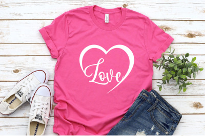 Love Svg, Womens valentines day shirt