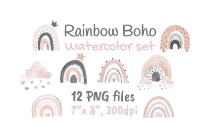 Boho Neutral Rainbow Blush Pink Modern