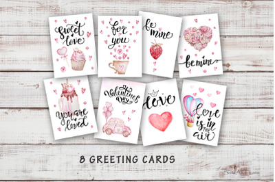 Printable Watercolor Valentines Day Card
