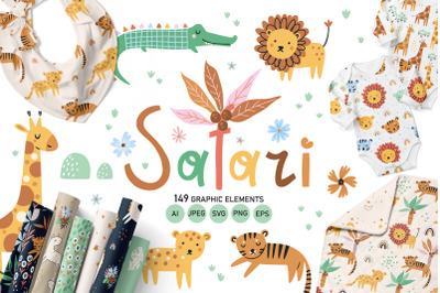 Safari - Kids Illustration