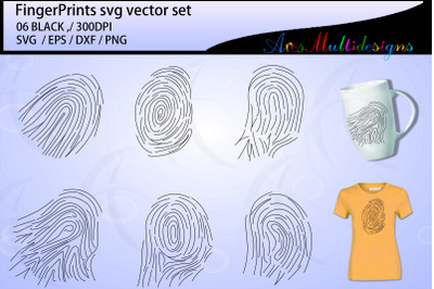 Fingerprints svg outline