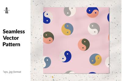 Yin and yang seamless pattern