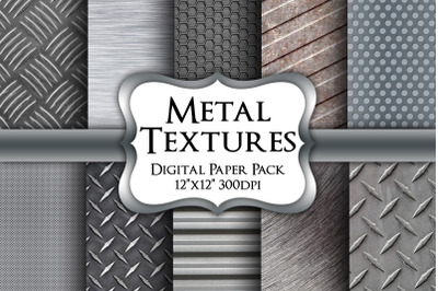 Metal Textures Digital Paper Pack