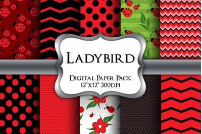 Ladybird Digital Paper Pack