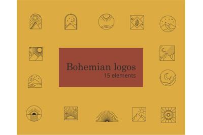 Bohemian logos - vector elements- elements for logo design