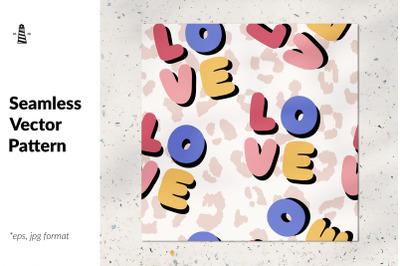 Love slogan seamless pattern