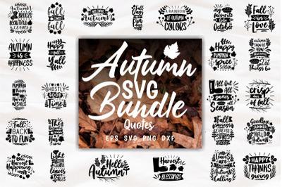 Autumn SVG Craft Quotes Slogans Bundle