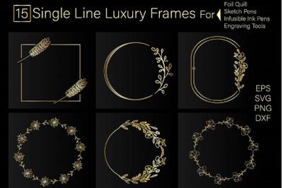 Foil quill Single Line Luxury Frame Bundle, Monogram frame