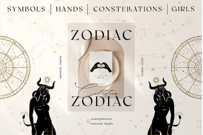 Zodiac Celestial Constellations Set