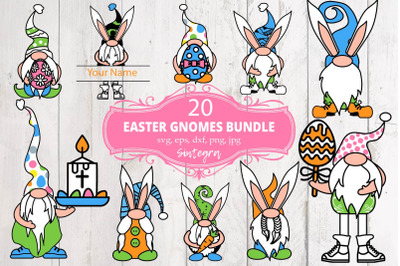 20 Easter Gnome Bundle SVG