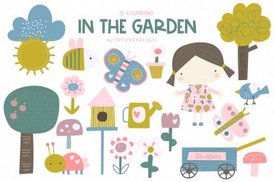 In the garden clipart set