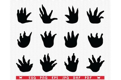 SVG Crocodiles, Footprints, Silhouette, Digital clipart