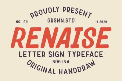 Renaise - Letter Sign Typeface