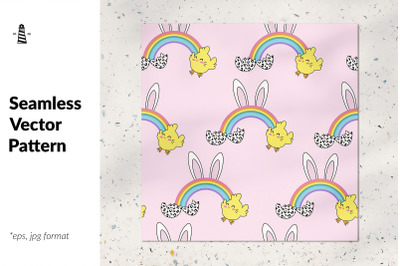 Easter bunny seamless pattern