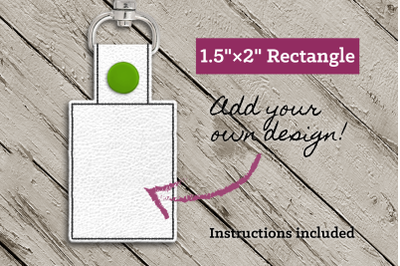 Blank Rectangle ITH Key Fob | Applique Embroidery