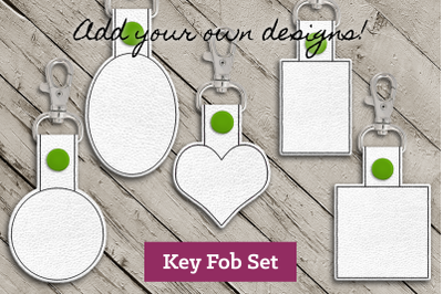 Blank ITH Key Fob Set | Applique Embroidery