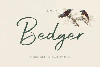 Bedger - Stylish Script Font