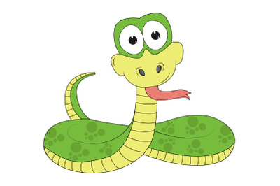 cute snake animal cartoon