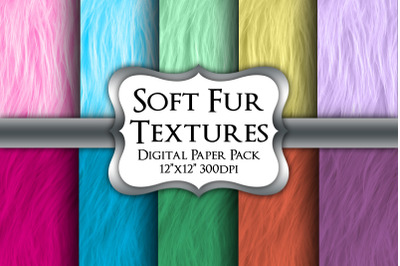 Soft Fur Digital Paper Pack