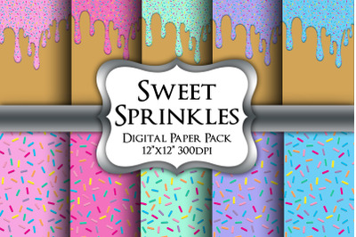 Sweet Sprinkles Digital Paper Pack