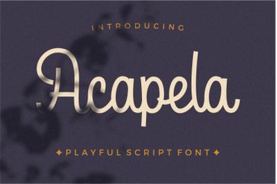 Acapela Mono script