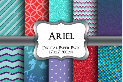 Ariel Inspired Digital Paper Pack