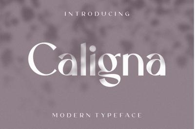 Caligna Serif Typeface