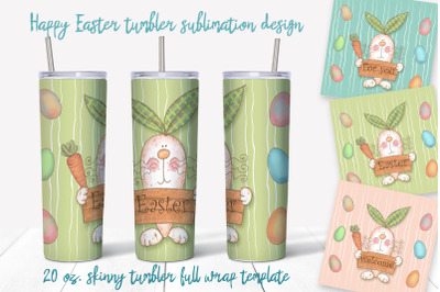 Happy Easter Png. Easter sublimation design. Skinny tumbler