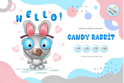Candy rabbit.