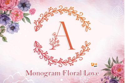 Monogram Floral Love Font