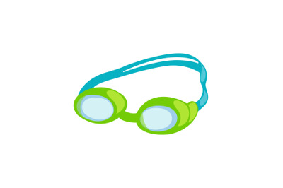 Swimming Glasses Vector Illustration