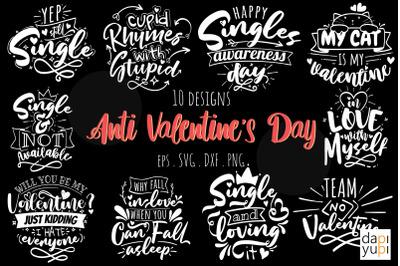 Anti Valentine's Day Quotes Bundle