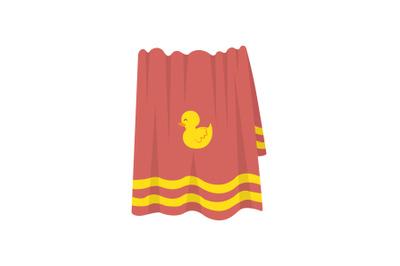 Towel Swimming Pool Vector Illustration