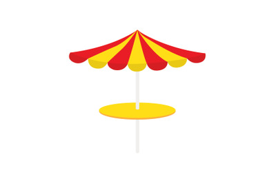 Yellow Umbrella vector Illustration