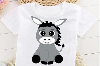 Donkey SVG, Farm Animals SVG, Donkey Clipart, Donkey Cut Files, Donkey