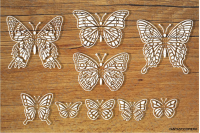 Pop-up Butterflies for your creations SVG files