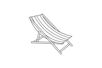 Sun Lounger Outline Icon