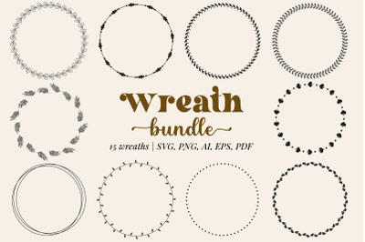 Wreath Bundle in SVG, PNG, EPS, AI, PDF
