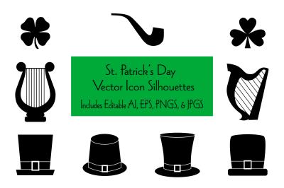 Saint Patrick's Day Icon Silhouettes