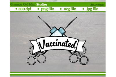 covid vaccinated banner cut file   coronavirus vaccine clip art   with