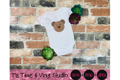Bear Face, Bear Svg, Baby Bear, Animal, Forest Animals, Zoo Animals, C