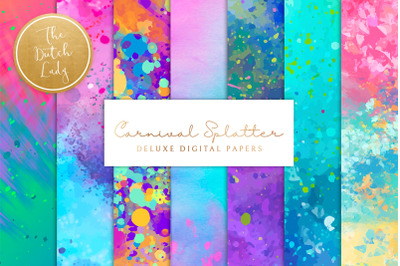 Happy Carnival Splatter Backgrounds