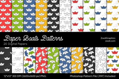 Paper Boats Digital Papers