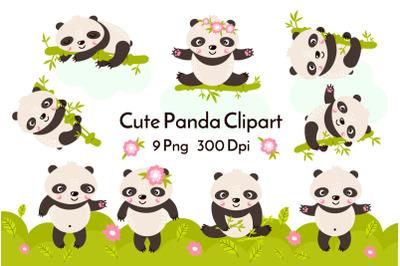 Panda Clipart PNG 28