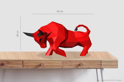 DIY Bull Sculpture - 3d papercraft