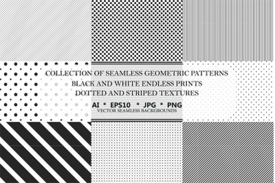 50 dotted & stripped vector textures